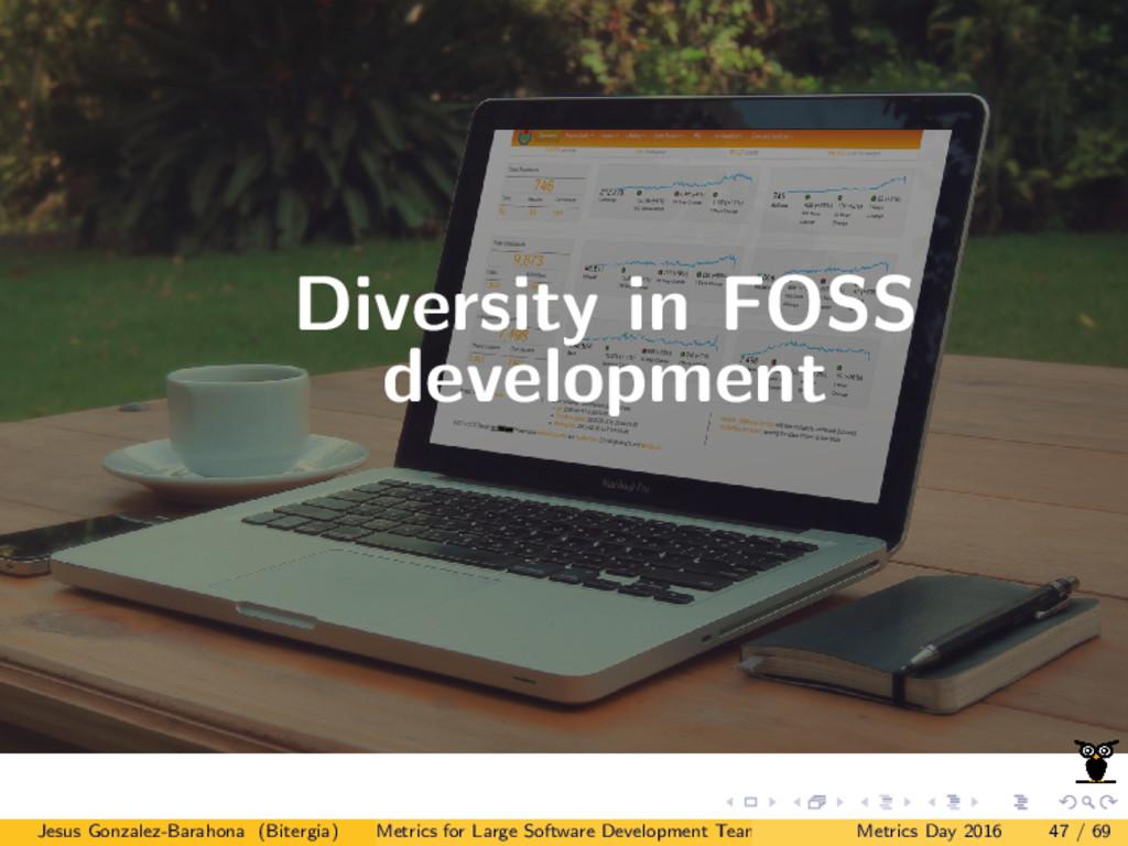 Diversity in FOSS development Jesus Gonzalez-Ba...