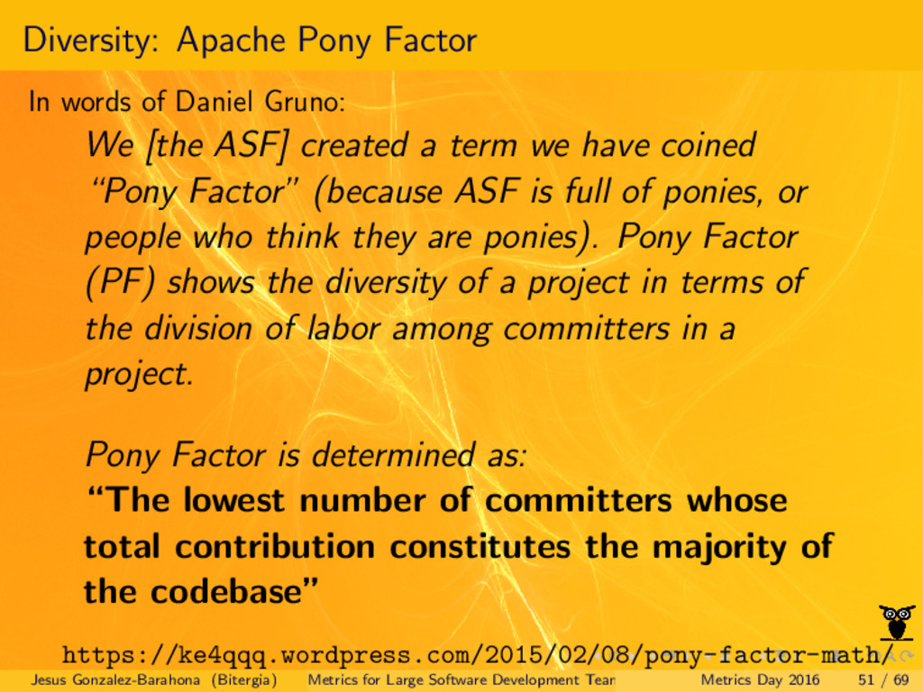 Diversity: Apache Pony Factor In words of Danie...