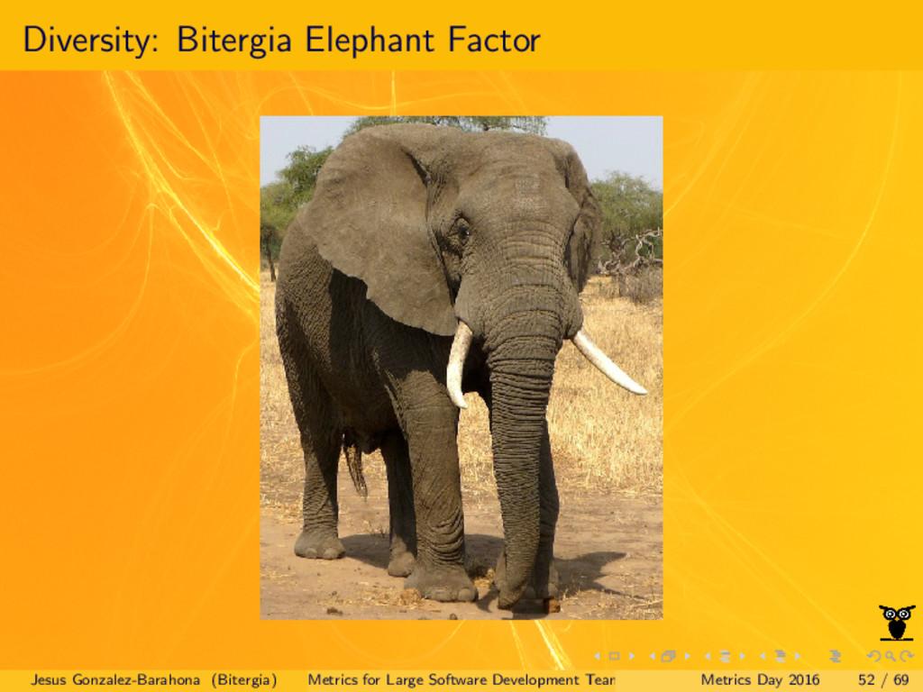 Diversity: Bitergia Elephant Factor Jesus Gonza...