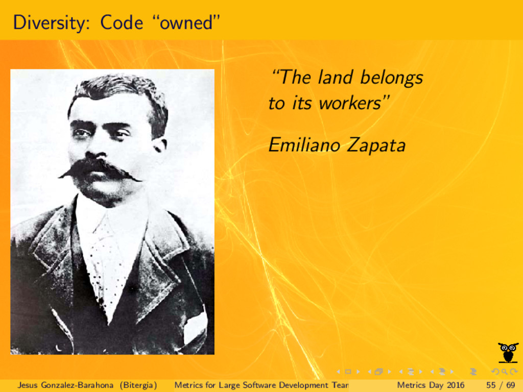 "Diversity: Code ""owned"" ""The land belongs to it..."