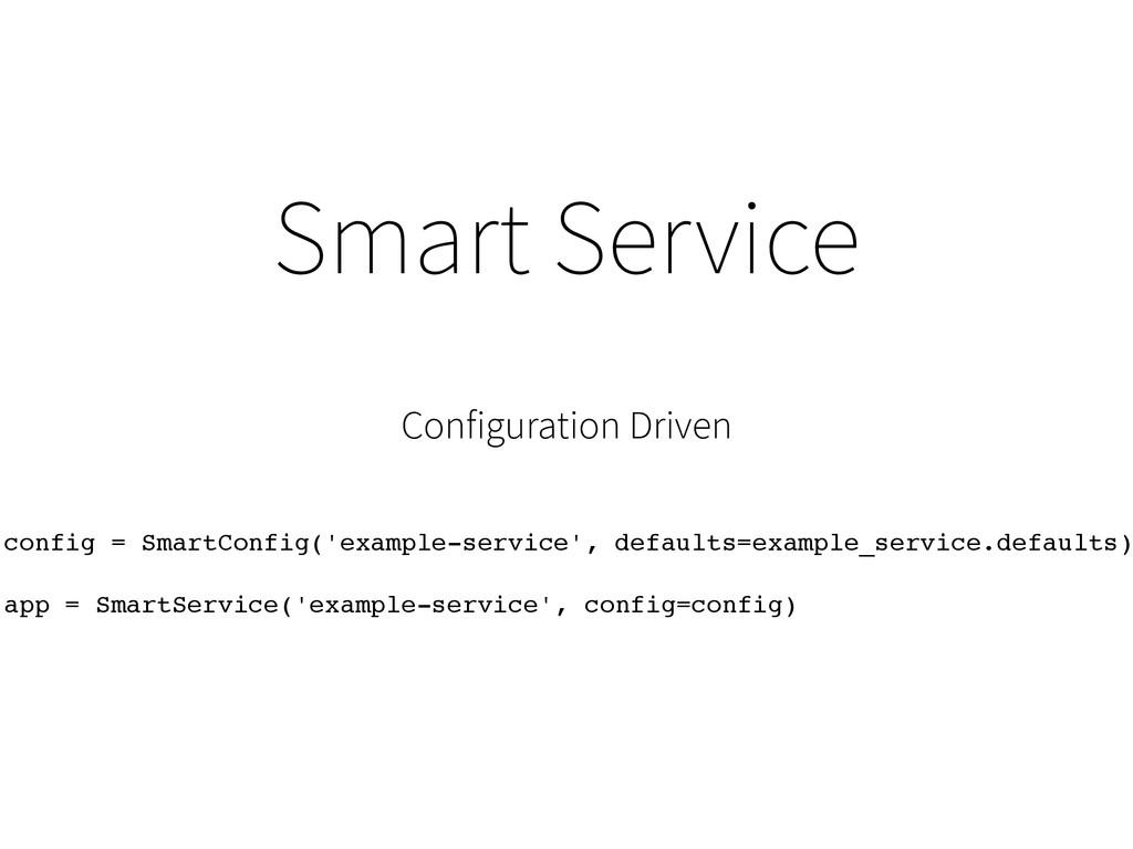 Smart Service Configuration Driven config = Sma...