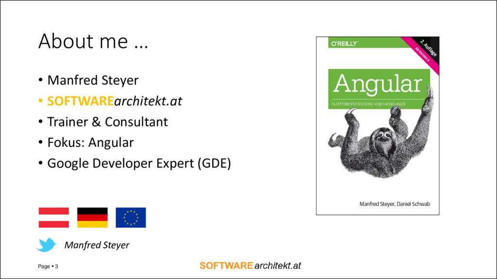About me … • Manfred Steyer • SOFTWAREarchitekt...