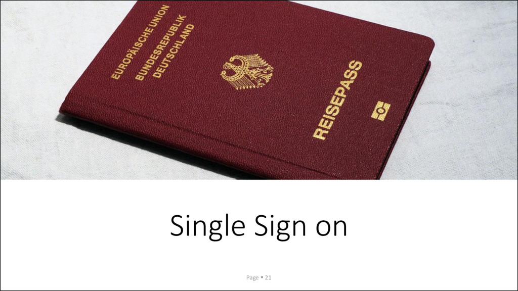 Single Sign on Page ▪ 21