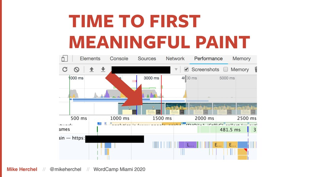 TIME TO FIRST MEANINGFUL PAINT Mike Herchel // ...