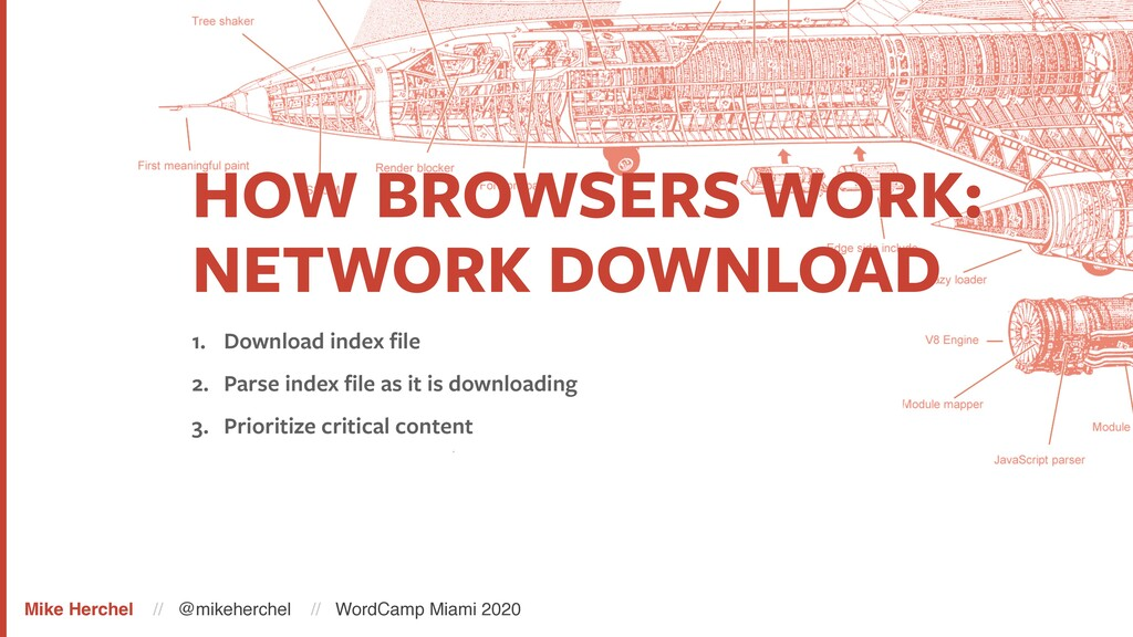 HOW BROWSERS WORK: NETWORK DOWNLOAD 1. Download...