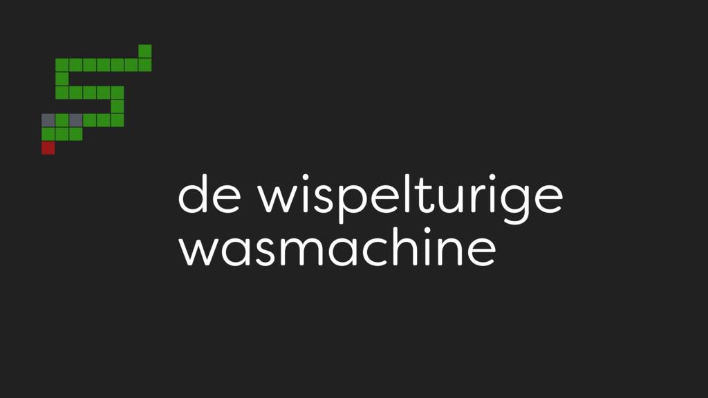 de wispelturige wasmachine