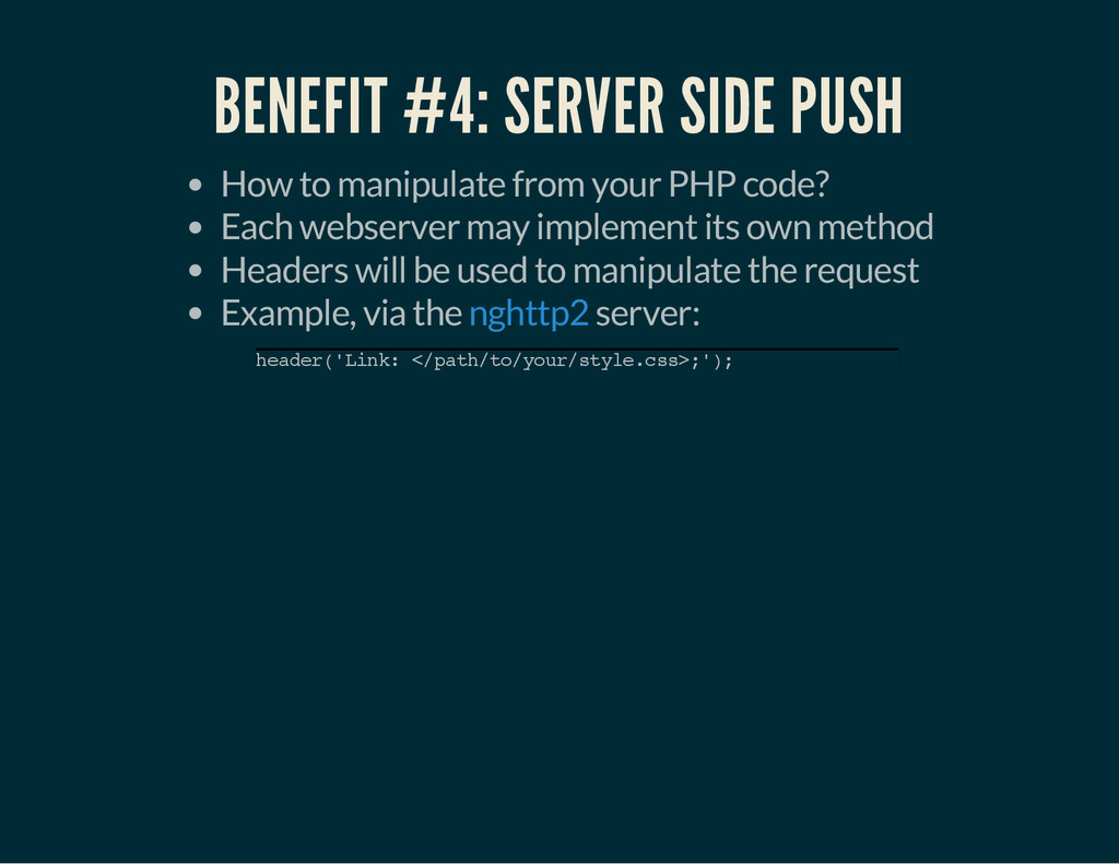 BENEFIT #4: SERVER SIDE PUSH How to manipulate ...