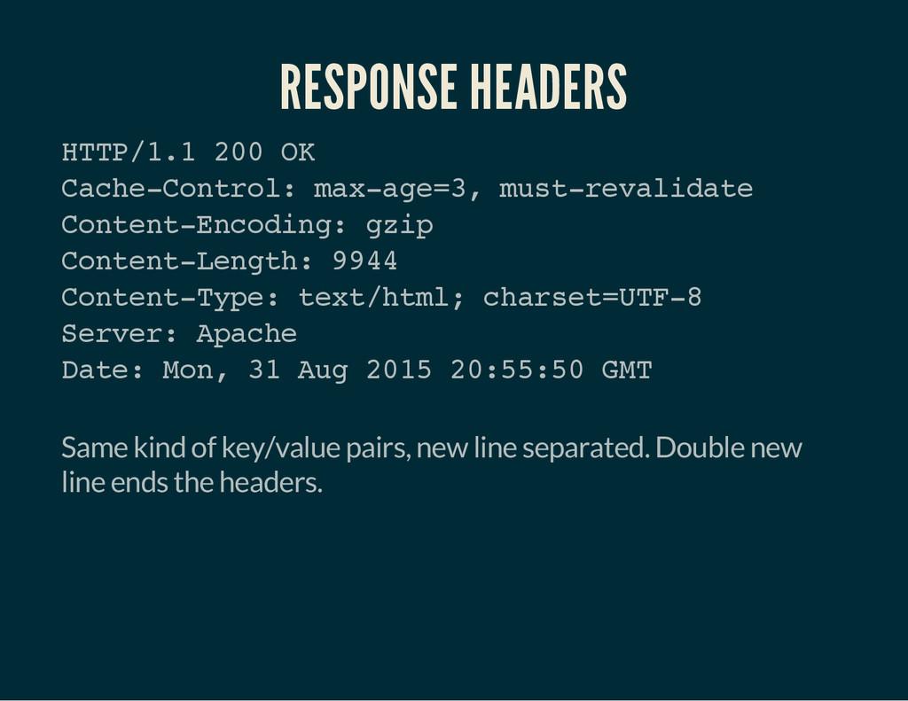 RESPONSE HEADERS H T T P / 1 . 1 2 0 0 O K C a ...