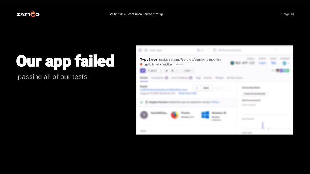 passing all of our tests 24.09.2019, React Open...