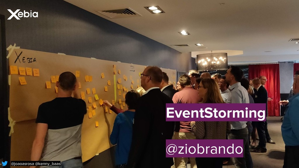 EventStorming @ziobrando @joaoasrosa @kenny_baas