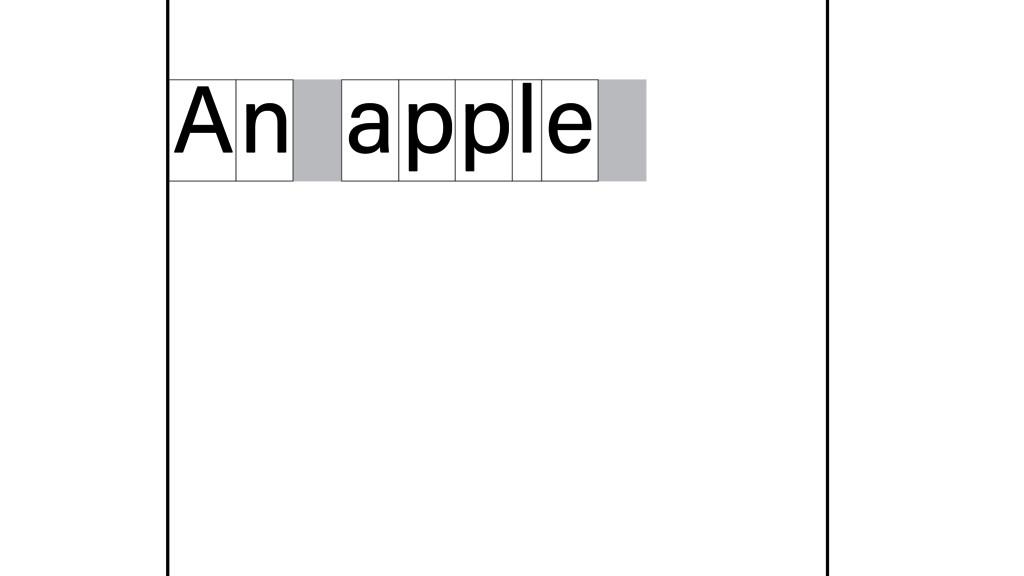 n A apple