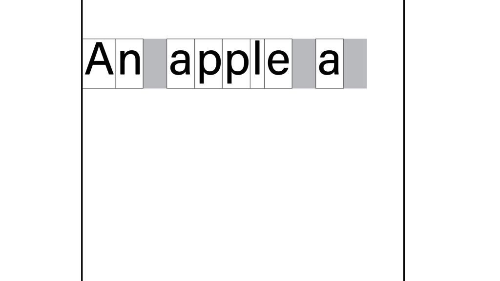 n A apple a