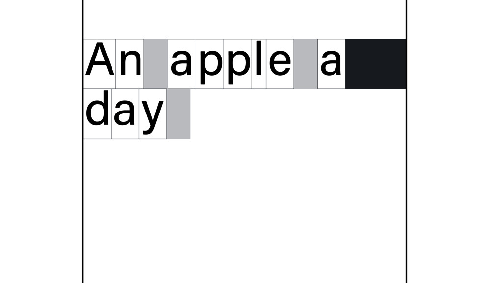 n A apple a d y a