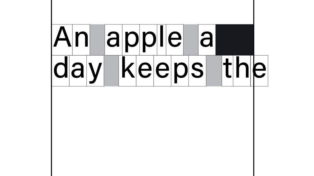 n A apple a d y a keeps t e h