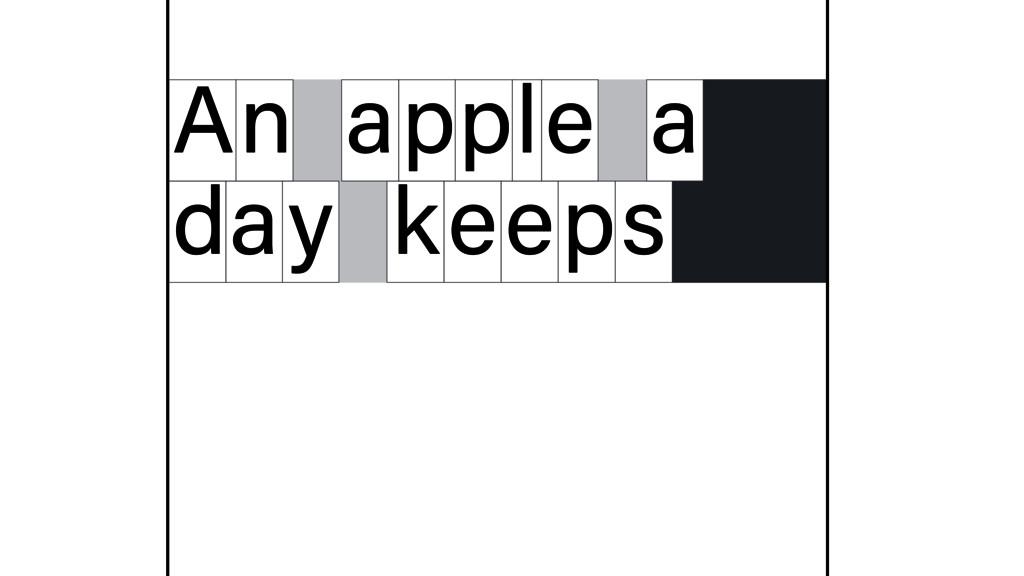 n A apple a d y a keeps