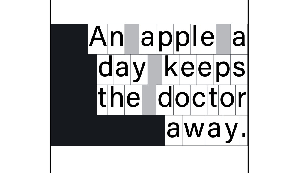 n A apple a d y a keeps t e h doctor away.