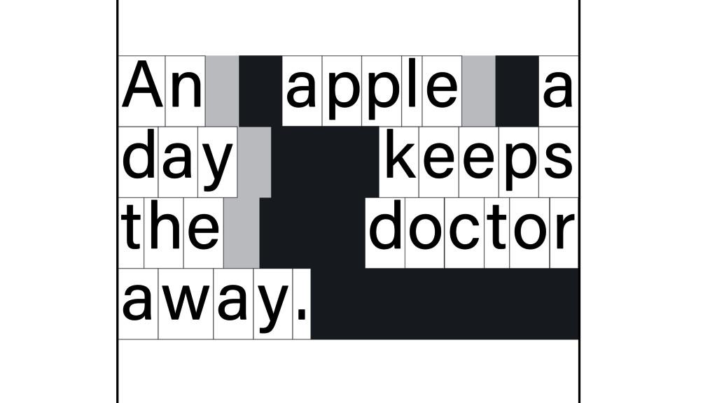 n A apple a d y a eeps t e h octor away. k d