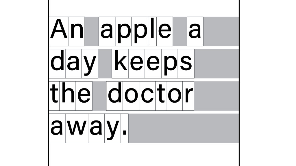 n A apple a d y a keeps t e h doctor away.