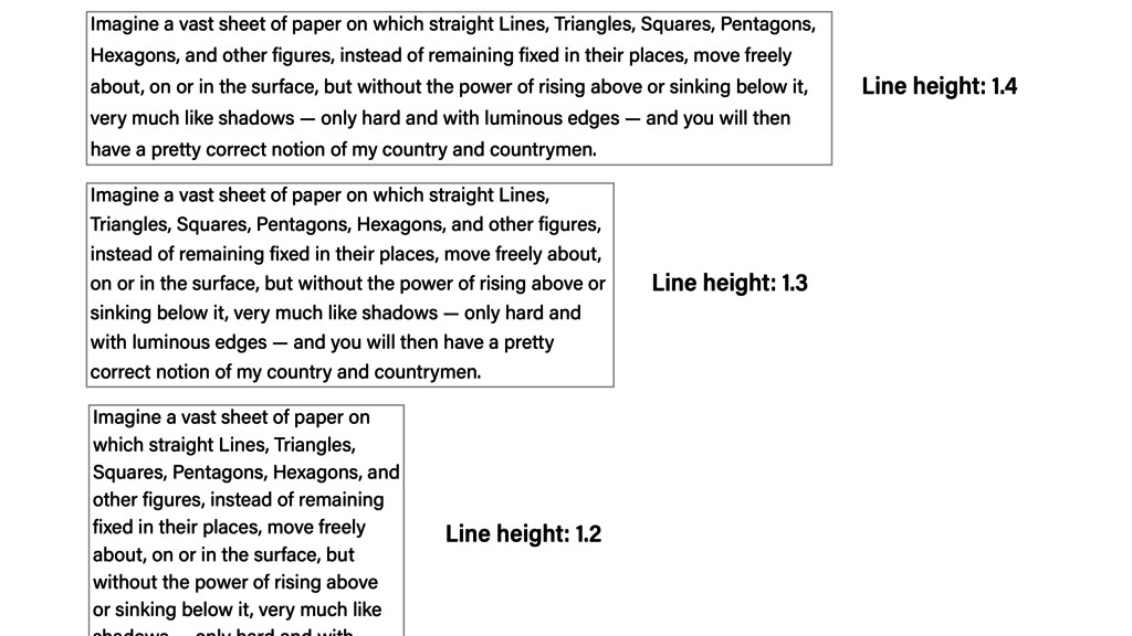 Imagine a vast sheet of paper on which straight...