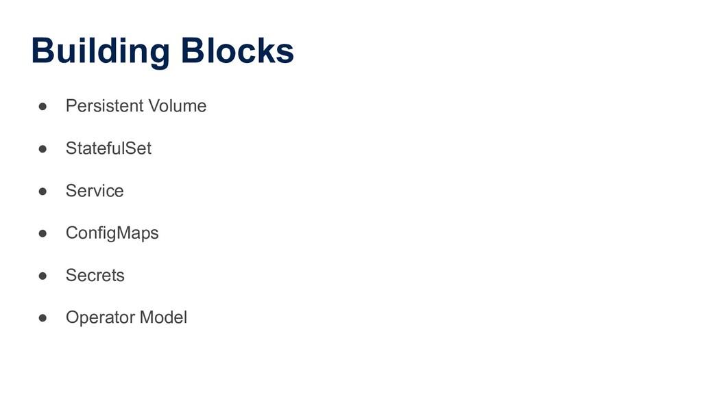 Building Blocks ● Persistent Volume ● StatefulS...