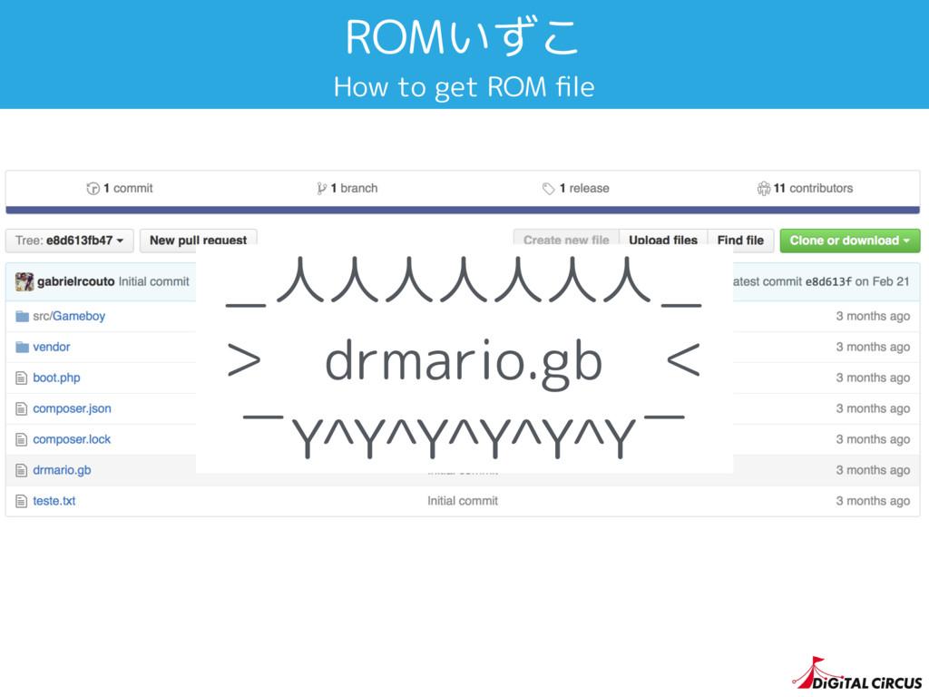 ROMいずこ How to get ROM file _人人人人人人人_ > drmario.g...