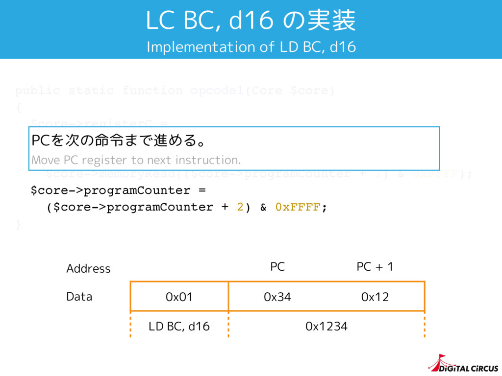 public static function opcode1(Core $core) { $c...