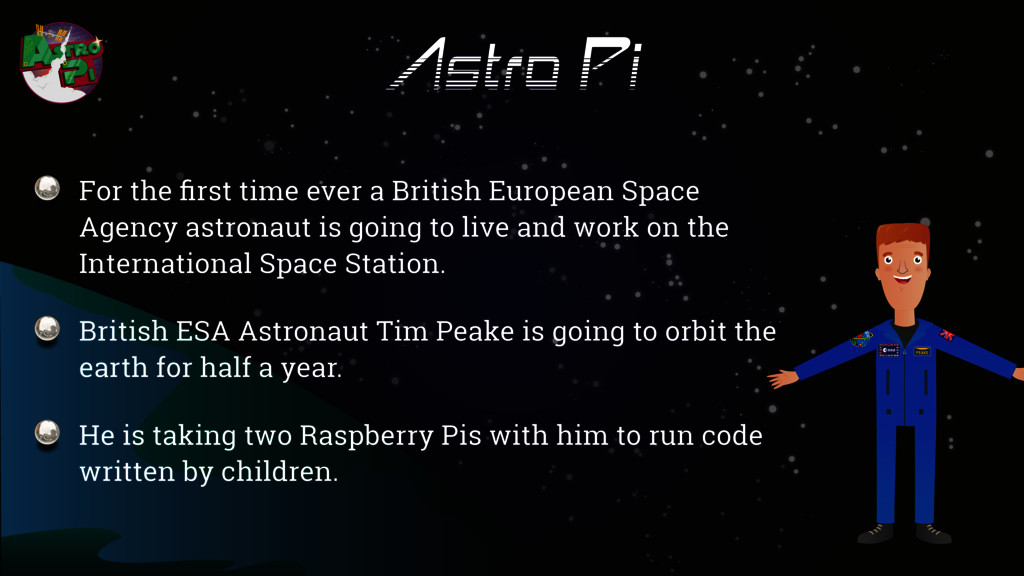 Astro Pi For the first time ever a British Europ...