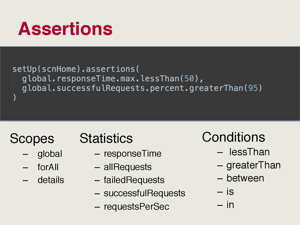 Assertions Scopes – global – forAll – detail...
