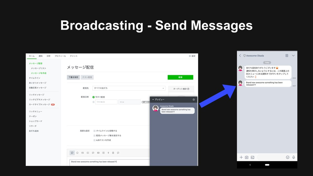 Broadcasting - Send Messages