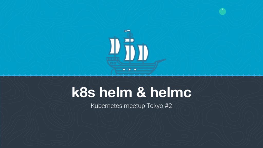 1 k8s helm & helmc Kubernetes meetup Tokyo #2