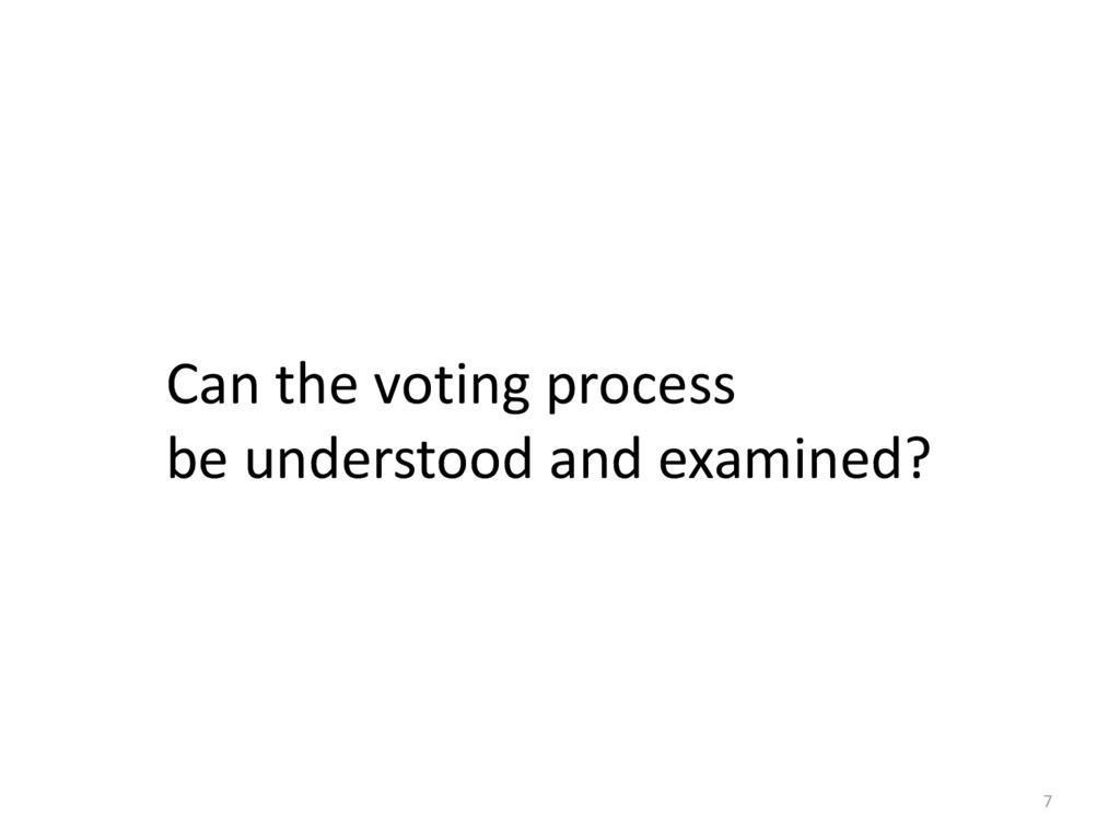 7 Can the voting process be understood and exam...