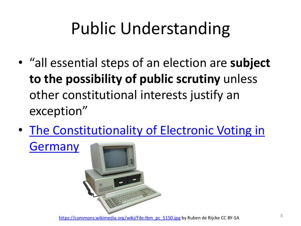 "Public Understanding • ""all essential steps of ..."
