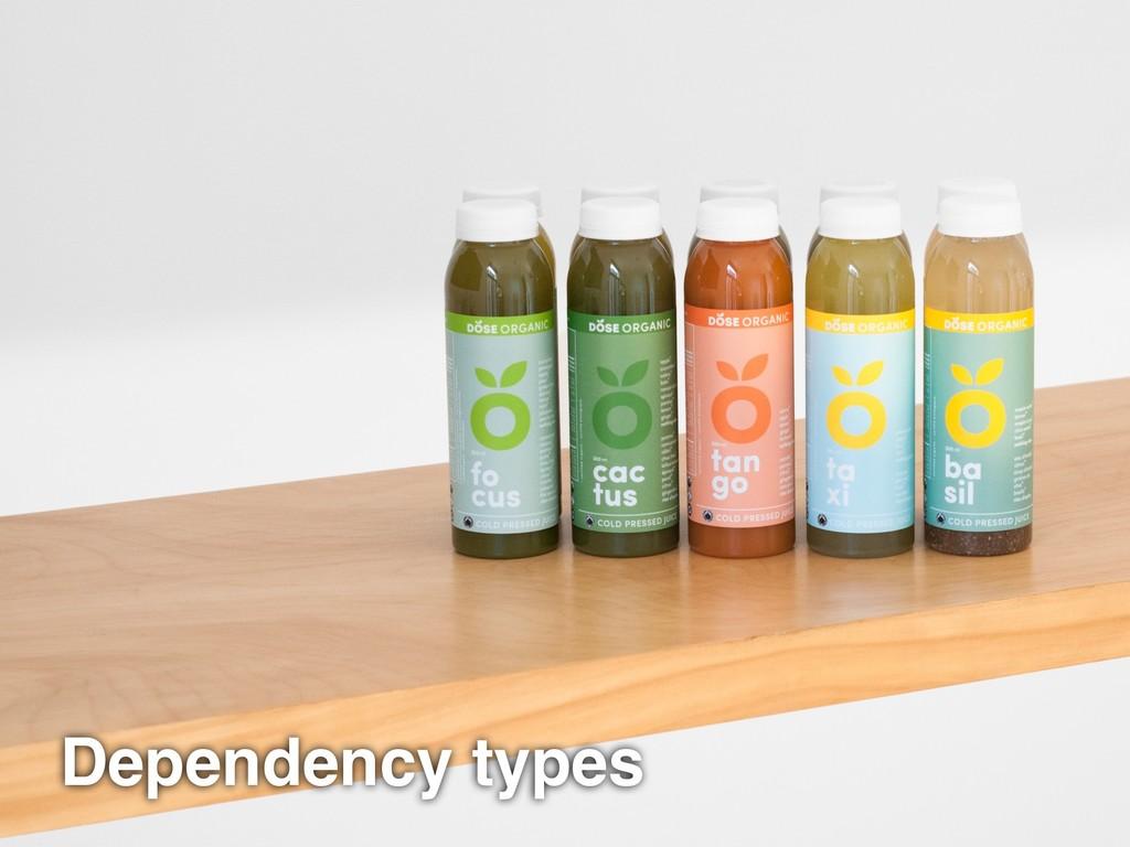 Dependency types