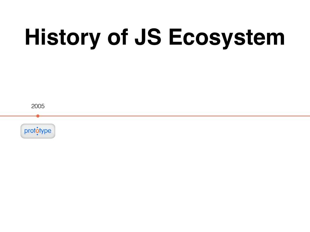 History of JS Ecosystem 2005