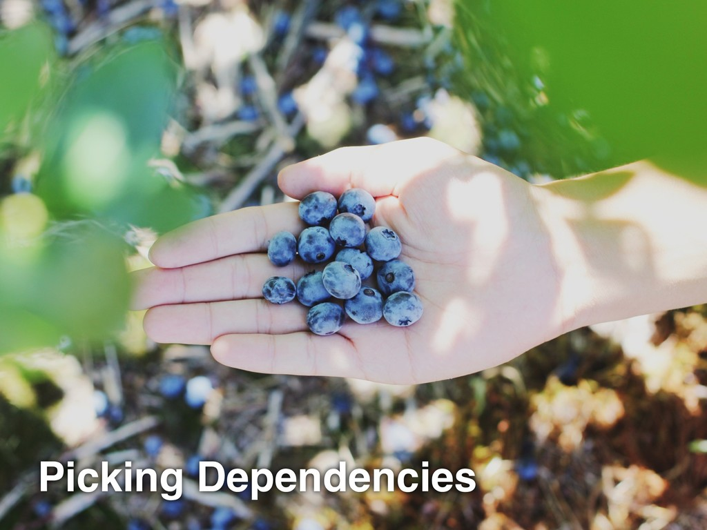 Picking Dependencies