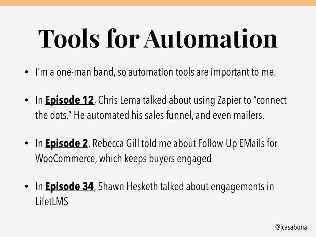 @jcasabona Tools for Automation • I'm a one-man...