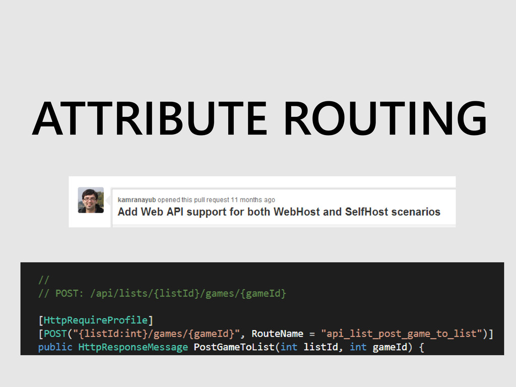 ATTRIBUTE ROUTING