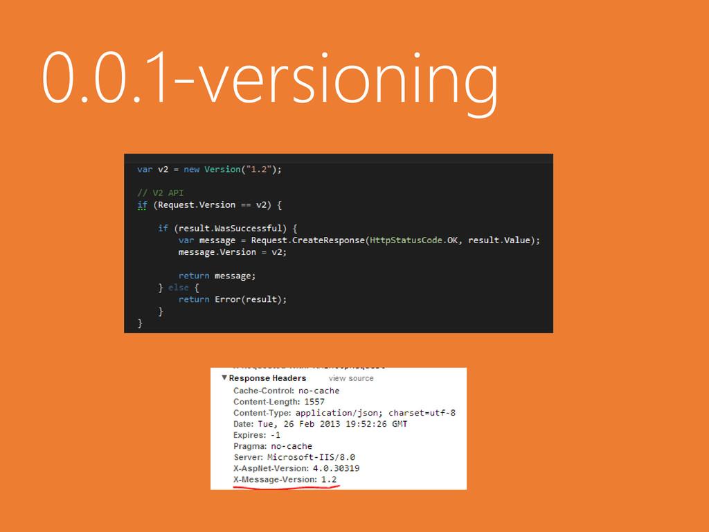 0.0.1-versioning