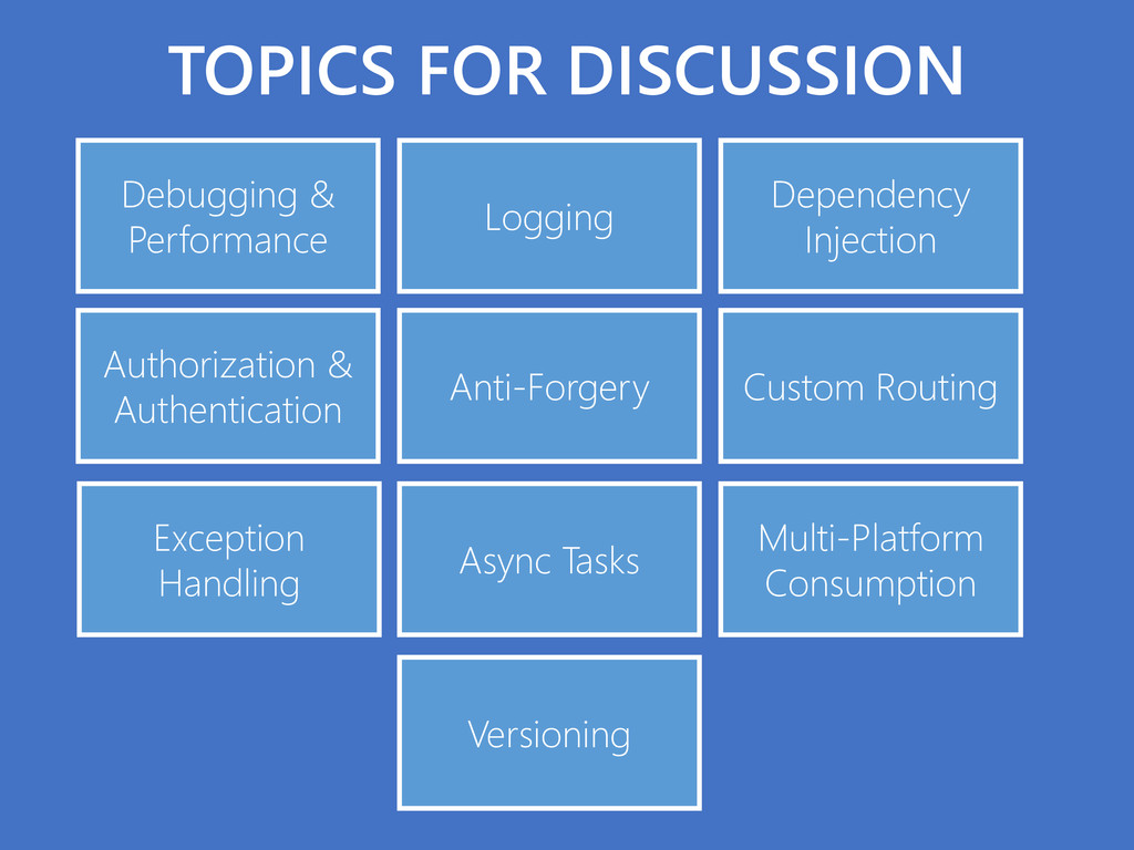 TOPICS FOR DISCUSSION Debugging & Performance L...