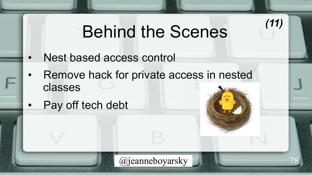 @jeanneboyarsky Behind the Scenes • Nest based...