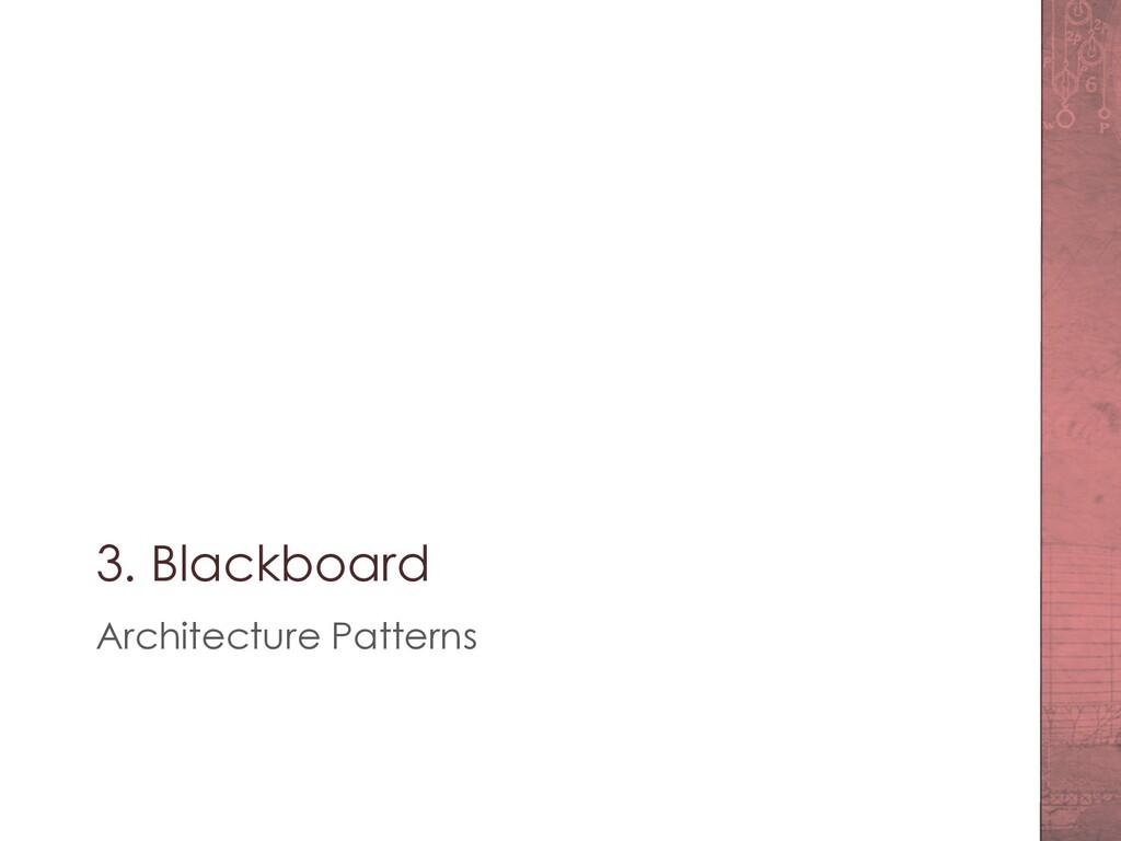 3. Blackboard Architecture Patterns