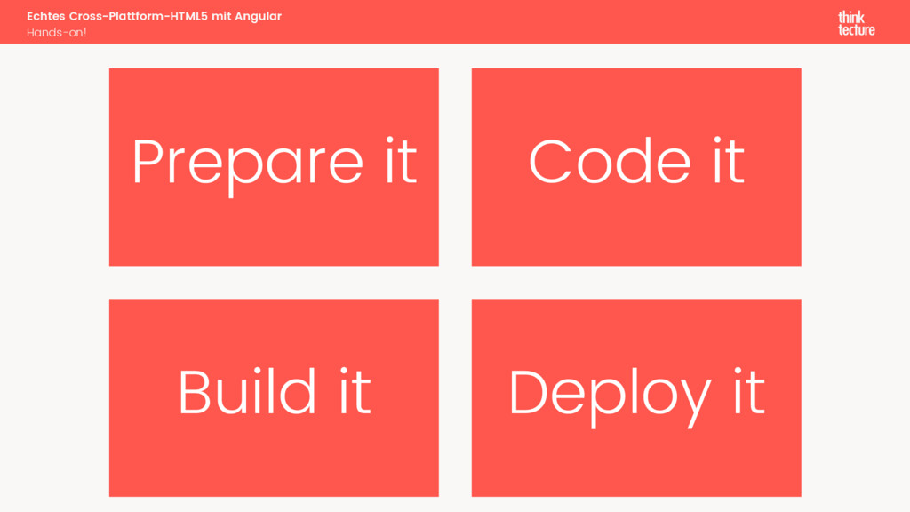 Prepare it Code it Build it Deploy it Echtes Cr...