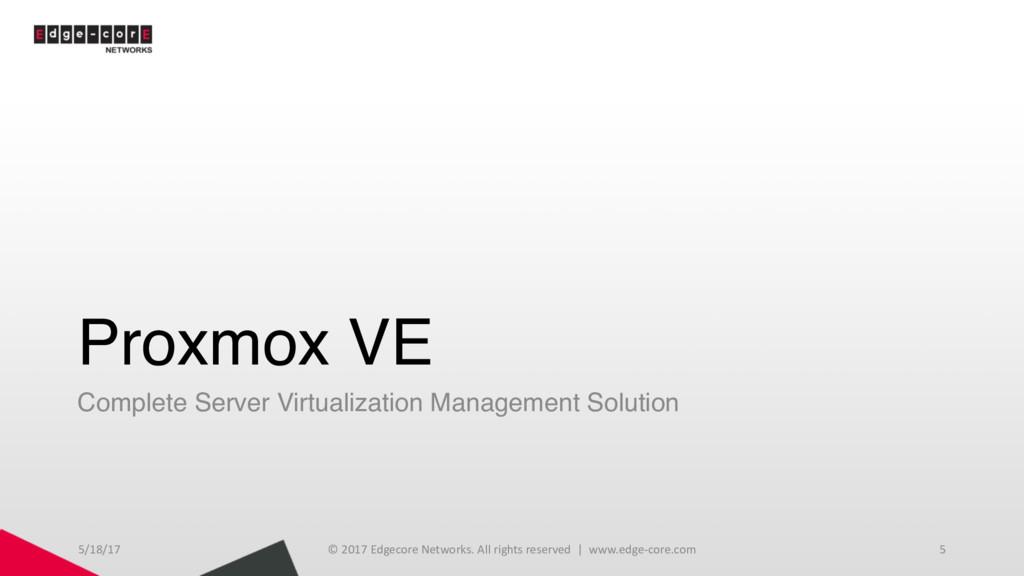 Proxmox VE Complete Server Virtualization Manag...