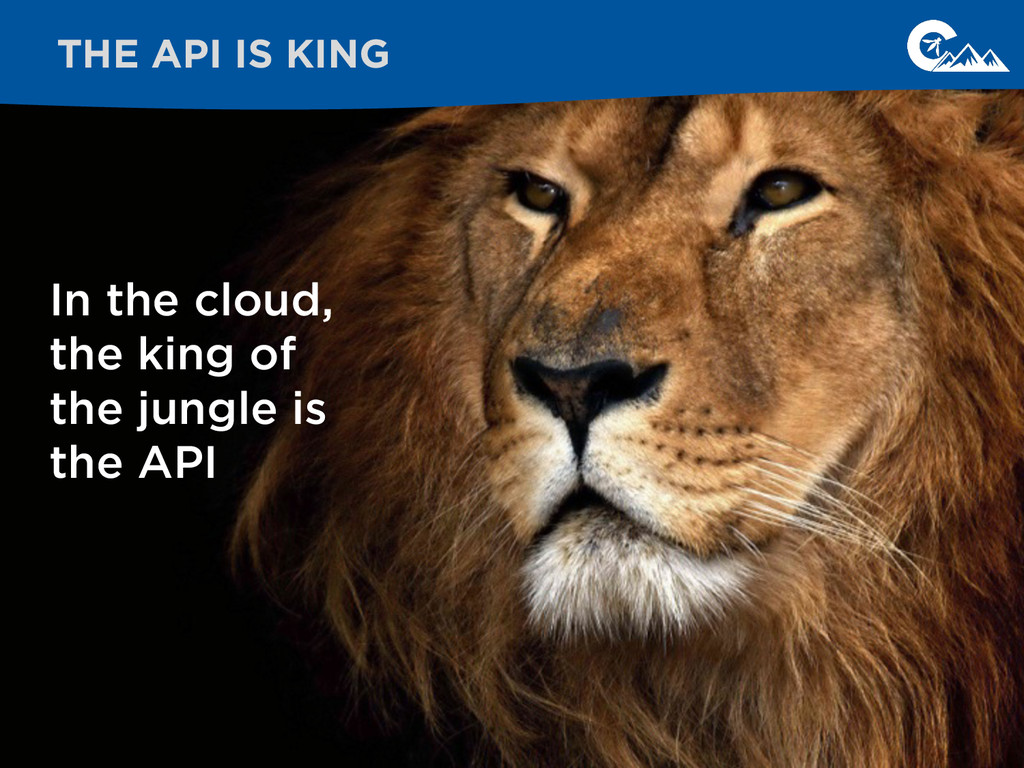 In the cloud, the king of the jungle is the API...
