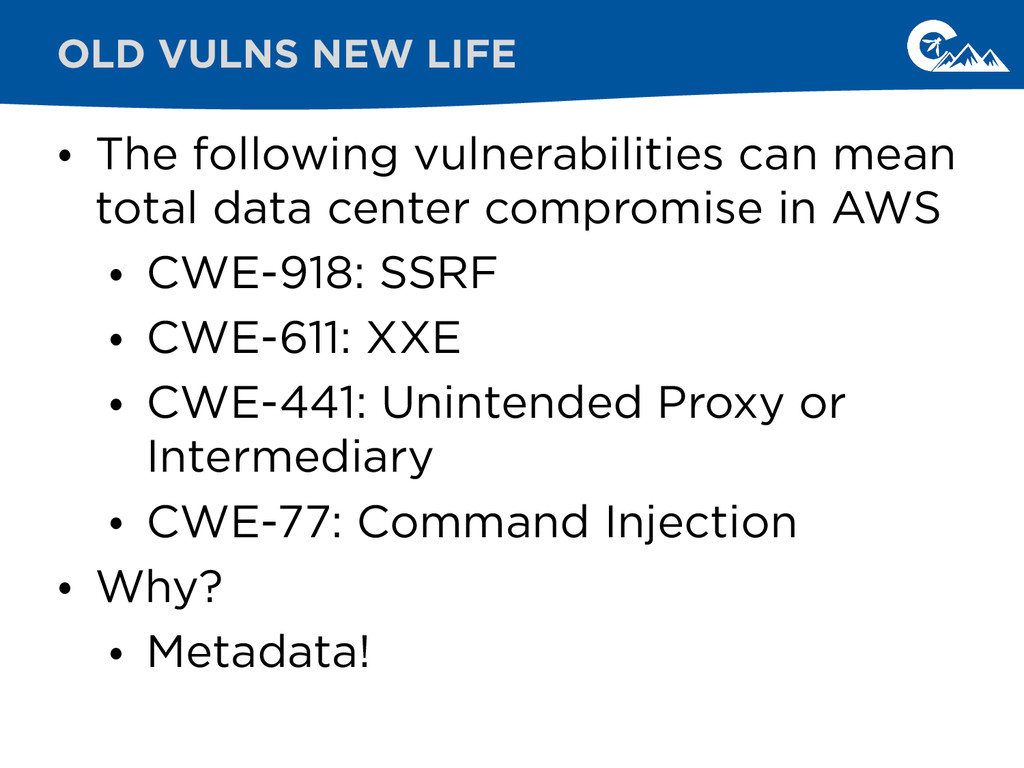 • The following vulnerabilities can mean total ...