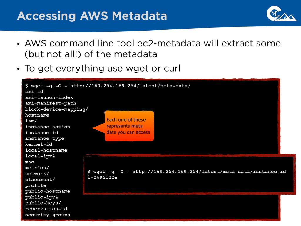 • AWS command line tool ec2-metadata will extra...