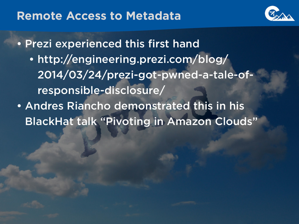 • Prezi experienced this first hand • http://eng...