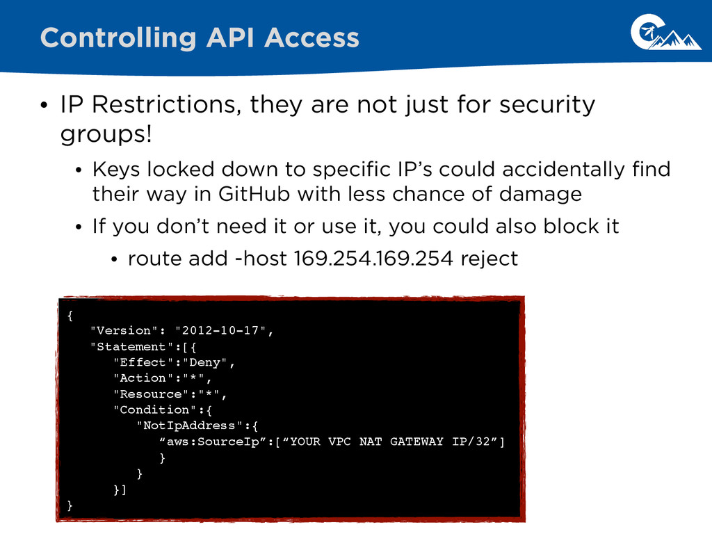 • IP Restrictions, they are not just for securi...