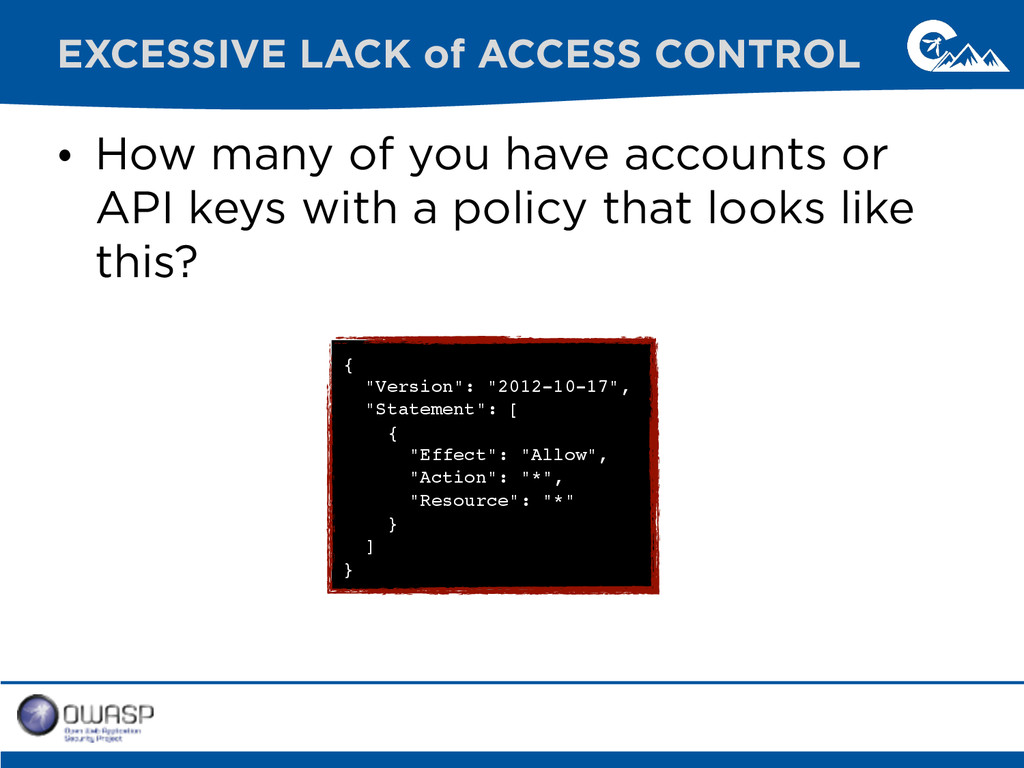 • How many of you have accounts or API keys wit...